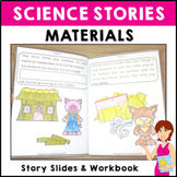 Science Story: Little Pigs Material Story. Science concept