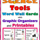 Science Tools Word Wall Cards plus Graphic Organizers & Pr