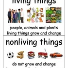 Science Vocabulary Cards Living Things