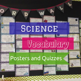 Science Vocabulary Posters and Quizzes