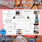 Science Vocabulary: Rocks and Minerals Teaching Unit and R