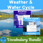 Science Vocabulary: Weather and the Water Cycle Teaching Unit