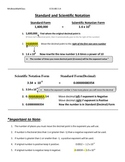 Scientific Notation CCSS EE 6,7,8