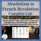 Scientific Revolution, Enlightenment, American & French CO