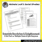 Scientific Revolution and Enlightenment Unit Test M/C + Op