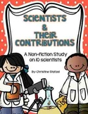 Scientists & their Contributions {a non-fiction study}