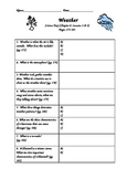 Scott Foresman- Science- Grade 3- Chapter 6 Weather- Guided Notes