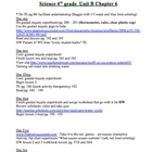 Scott Foresman Science Unit Plans chapter Six 4th Grade (W