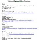 Scott Foresman Science Unit Plans chapter Three 4th Grade