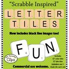 Scrabble Inspired! Letter Tiles Clip Art ~Commercial Use OK~