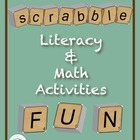 Scrabble Math & Literacy Activities CD ~ Common Core Aligned!