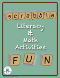 Scrabble Card Math & Literacy Activities CD ~ Common Core
