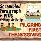 Scrambled Paragraph + Plus:   Pilgrims' First Thanksgiving