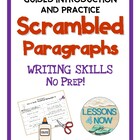 Scrambled Paragraph Writing Activities: Mini Unit  {No Pre