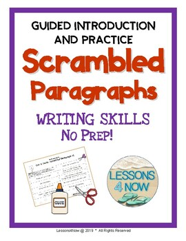 Scrambled Paragraph Writing Activities: Mini Unit {No Prep Printables