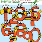 Scrappy Bee Numbers - Clip Art / Graphics for Teaching