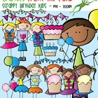 Scrappy Birthday Kids Clipart