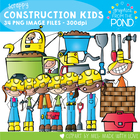 Scrappy Construction Kids - Clipart for Teachers