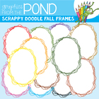 Scrappy Doodle Fall Frames/Borders - Graphics From the Pond