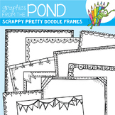 Scrappy Pretty Doodle Frames - Clipart for Teachers