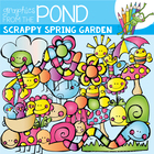 Scrappy Spring Garden - Clipart Set for Teachers