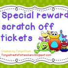 Scratch off tickets-monster theme