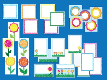 Scribble Flowers - Teaching Resource Maker Set