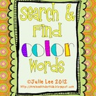 Search & Find Color Words Edition