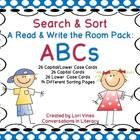 Search and Sort A Read and Write the Room Pack: ABCs
