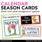 Season Label Cards {Black and White Series}