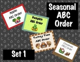 Seasonal ABC Order for Interactive Whiteboard Set 1