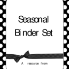 Seasonal Binder Cover