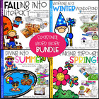 Word Work, Reading, Writing & Crafts - Seasonal ELA Bundle