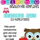 Newsletter Templates (13 included): Seasonal Owl Theme