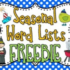 Seasonal Words Pack