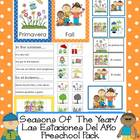 Seasons Of  The Year/ Las Estaciones Del Año Preschool Pack