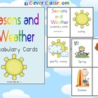 Seasons and Weather Vocabulary Cards - 10 pages