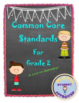 Second Grade Common Core:  Geometry Bundle