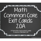 Second Grade Common Core Math Exit Cards 2.OA
