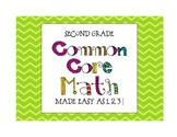 Second Grade Common Core Math Made Easy as 1, 2, 3