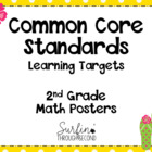 Second Grade Common Core Math Posters-Tropical