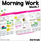 Second Grade *Common Core* Math and ELA Morning Work 7th M