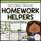Second Grade Homework Organization: Editable