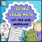 Second Grade Math Common Core Cut-and-Glue Workbook