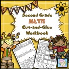 Second Grade Math Common Core Cut-and-Glue Workbook:  Fall