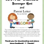Second Grade Scavenger Hunt and Parent Information