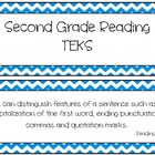 Second Grade Reading TEKS w/ Chevron Background