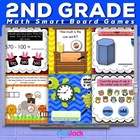 Second Grade Math Smart Board Game Pack - Common Core Aligned