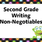 Second Grade Writing Non-Negotiables Posters - Monster Theme