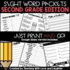 Second and Third Grade Sight Word Packets